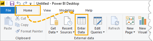 Power-BI-Enter-Data Copy And Paste Data From Excel Into Power BI