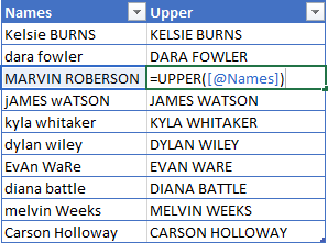 UPPER-Excel-Function-Example 5 Ways To Change Text Case In Excel