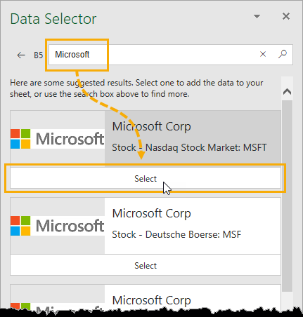 Data-Selector-Window-Pane The Complete Guide to Rich Data Types in Excel