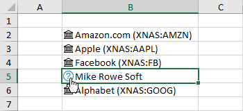 Data-Type-Not-Recognized The Complete Guide to Rich Data Types in Excel