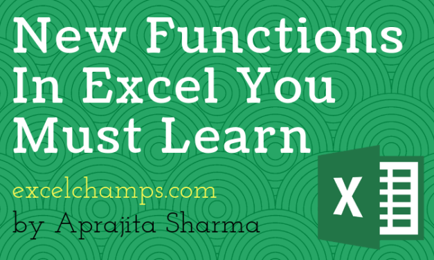 6 New Functions in Excel 2019 and Office 365 You Must Learn