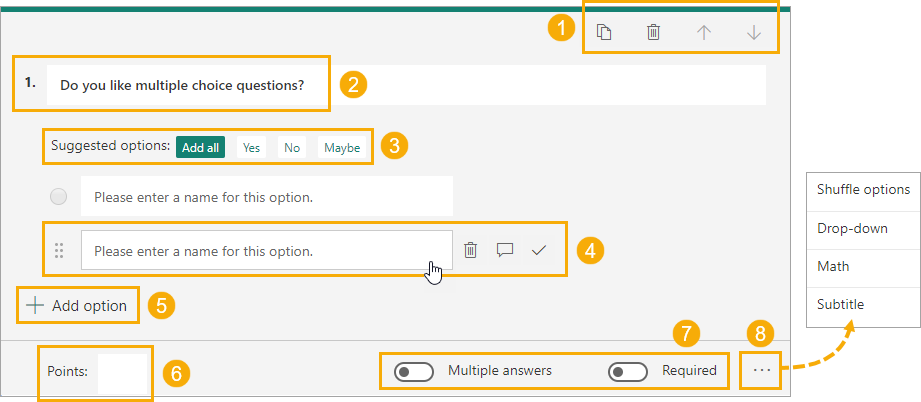 Choice-Question-Options An Introduction to Microsoft Forms for Excel