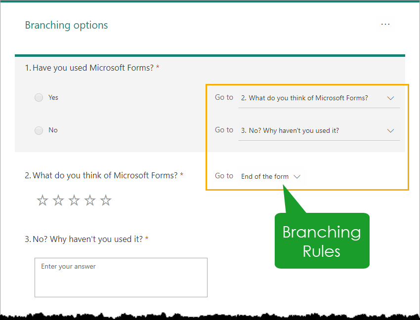 Creating-Form-Branching-Rules An Introduction to Microsoft Forms for Excel