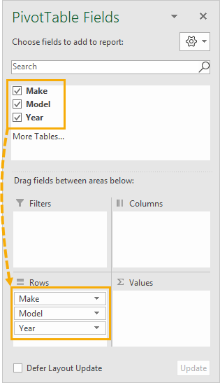 Add-All-Fields-to-Rows-Area 7 Ways To Find And Remove Duplicate Values In Microsoft Excel