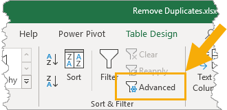 Data-Tab-Advanced-Filters 7 Ways To Find And Remove Duplicate Values In Microsoft Excel