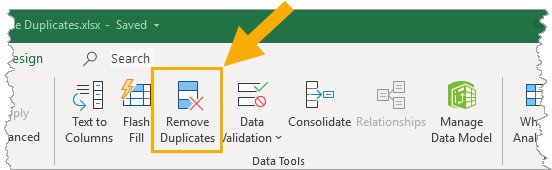 Data-Tab-Remove-Duplicates 7 Ways To Find And Remove Duplicate Values In Microsoft Excel