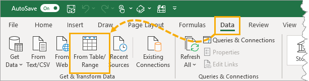 Power-Query-Get-Data-from-Table 7 Ways To Find And Remove Duplicate Values In Microsoft Excel