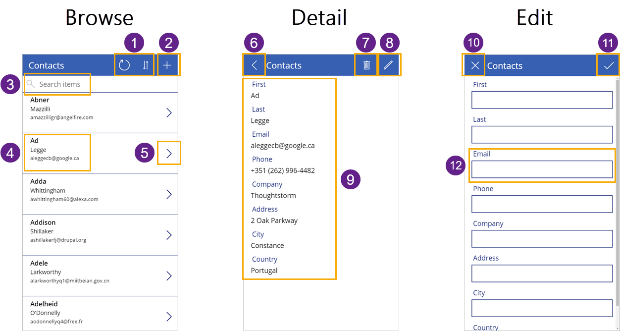 Three-Screen-App-Generated-from-Data The Complete Guide To Microsoft PowerApps