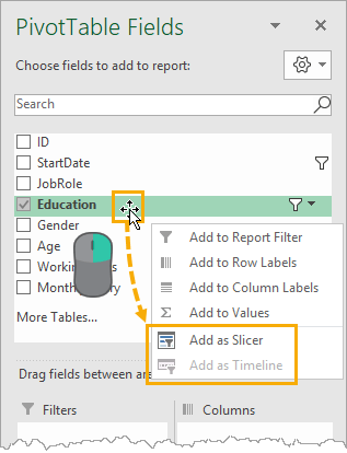 Add-Slicer-or-Timeline-from-PivotTable-Fields The Complete Guide To Slicers And Timelines In Microsoft Excel