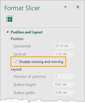 Disable-Resizing-and-Moving The Complete Guide To Slicers And Timelines In Microsoft Excel
