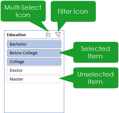 Slicer-Anatomy The Complete Guide To Slicers And Timelines In Microsoft Excel