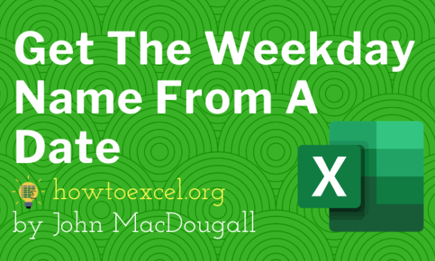 7 Ways To Get The Weekday Name From A Date In Excel