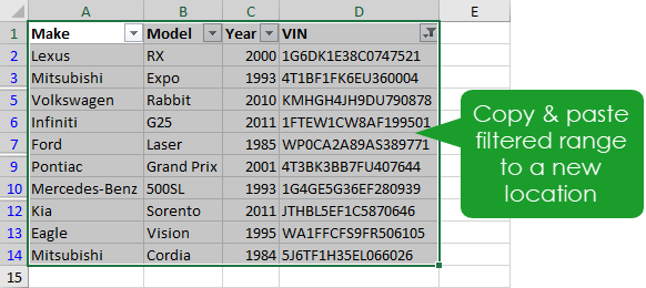 Copy-and-Paste-Filtered-Range 9 Ways to Delete Blank Rows in Excel