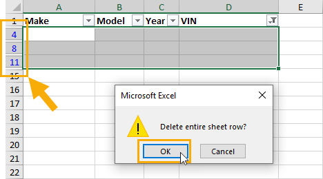 Delete-Visible-Rows 9 Ways to Delete Blank Rows in Excel