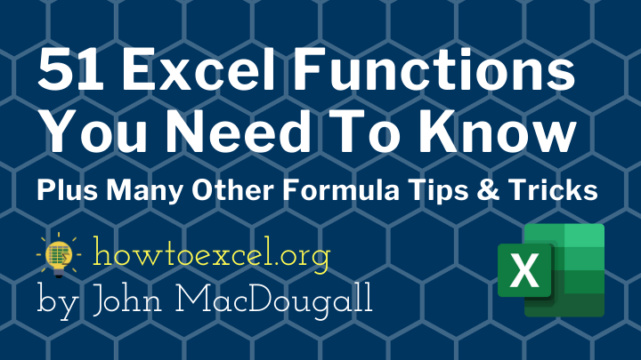 51-Excel-Functions-You-Need-To-Know Courses