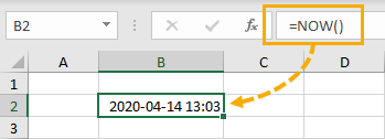 NOW-Function 5 Ways to Get the Current Date or Time in Excel