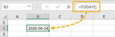 TODAY-Function 5 Ways to Get the Current Date or Time in Excel