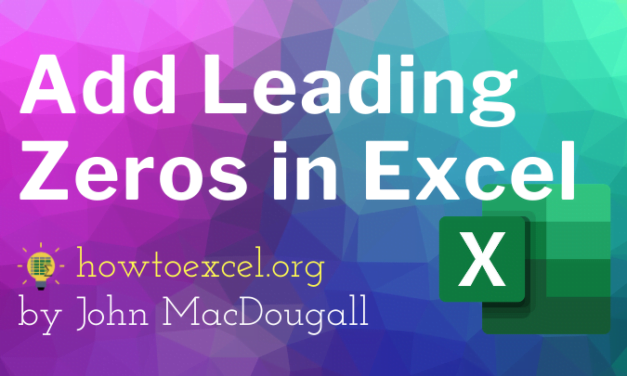9 Ways To Add Leading Zeros In Excel