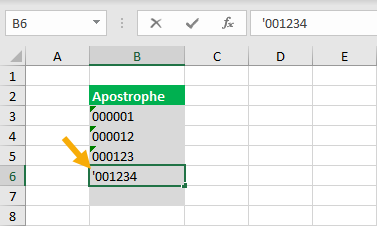 Leading-Apostrophe 9 Ways To Add Leading Zeros In Excel