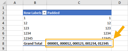 Pivot-Table-with-Leading-Zeros 9 Ways To Add Leading Zeros In Excel