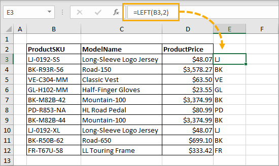 LEFT-Function 7 Ways to Extract the First or Last N Characters in Excel