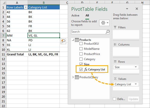 PivotTable-with-Measure 7 Ways to Extract the First or Last N Characters in Excel