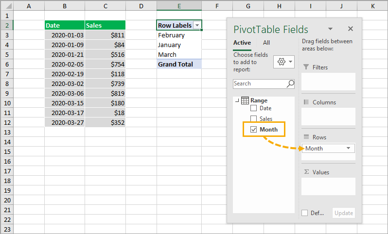 Add-Calculated-Column-in-PivotTable-Fields-List 8 Ways to Extract the Month Name from a Date in Excel