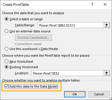 Add-Data-to-Data-Model 8 Ways to Extract the Month Name from a Date in Excel