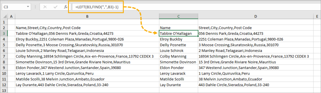 Extract-First-Item-with-Formulas-1024x299 8 Ways to Split Text by Delimiter in Excel