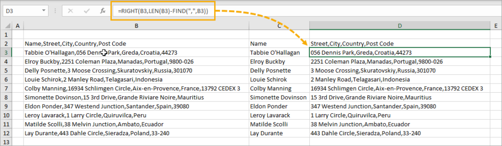 Extract-Remaining-Items-with-Formulas-1024x299 8 Ways to Split Text by Delimiter in Excel