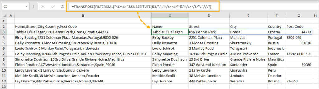 FILTERXML-as-Dynamic-Array-1024x286 8 Ways to Split Text by Delimiter in Excel