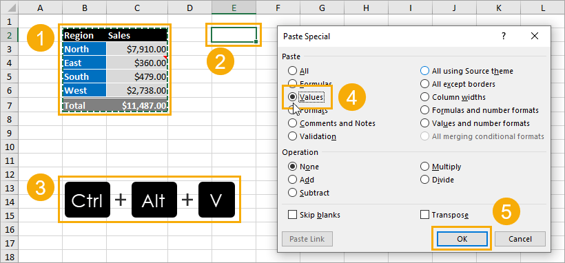 Paste-Special-Keyboard-Shortcut 9 Ways to Copy and Paste as Values in Excel