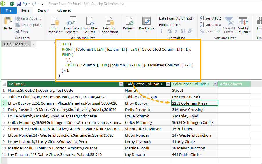 Power-Pivot-Second-Item 8 Ways to Split Text by Delimiter in Excel
