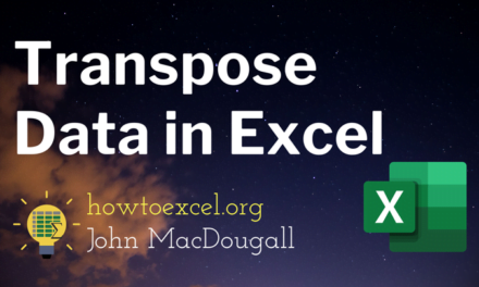 3 Ways to Transpose Data in Excel